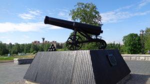 Пушка отливки 1852 года.