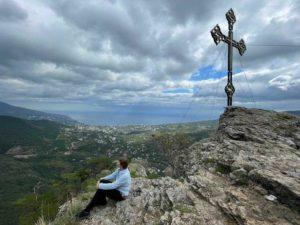 Вид с горы Ставри-Кая